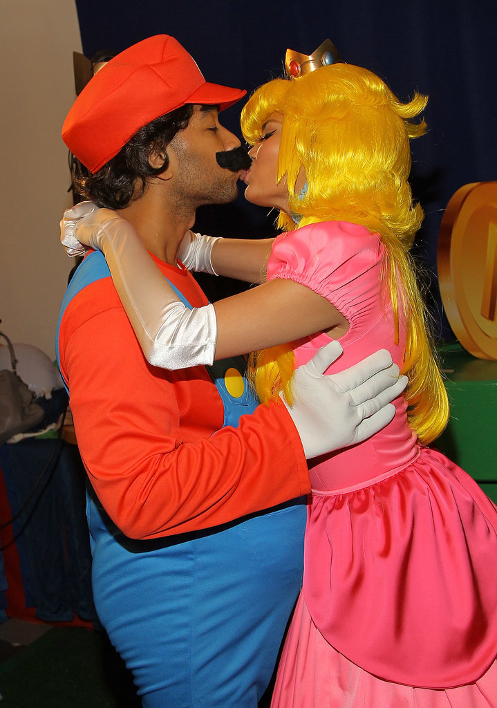 Chrissy Teigen and John Legend as Princess Peach and Mario