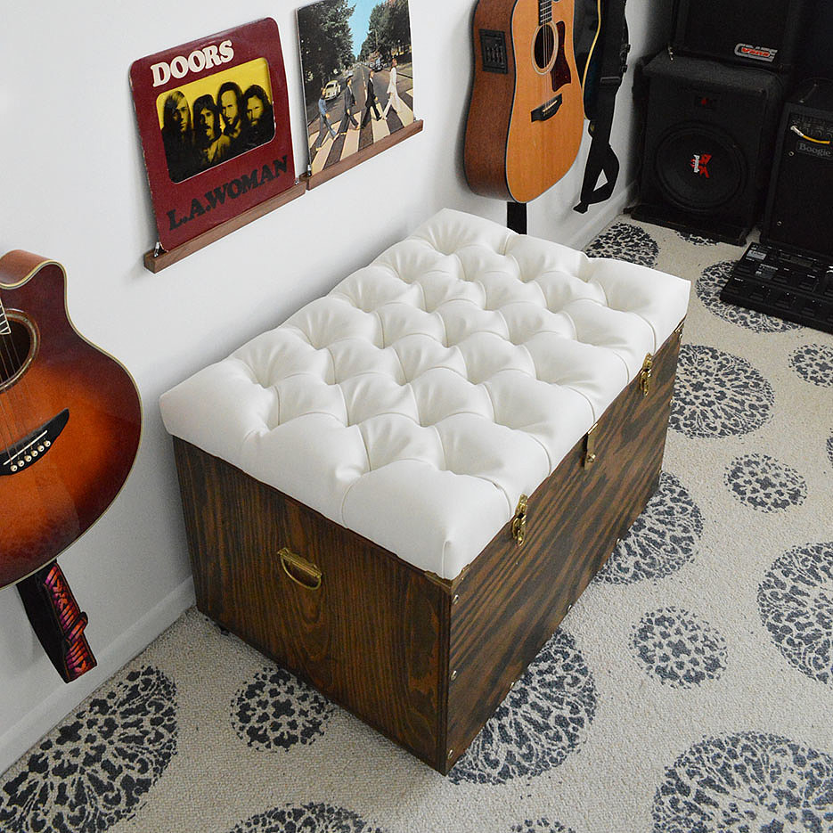 DIY Tufted Storage Ottoman - DIY Tufted Storage Ottoman POPSUGAR Home