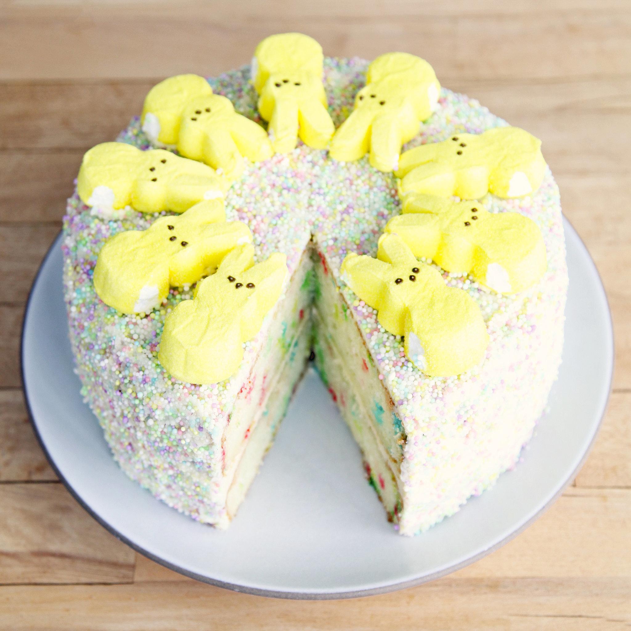 Funfetti Peeps Cake | Creative Easter Peeps Cake Ideas | Homemade Recipes