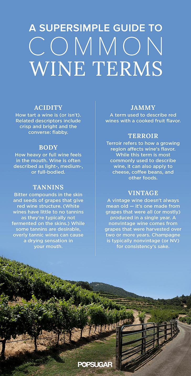 Common Wine Terms Popsugar Food
