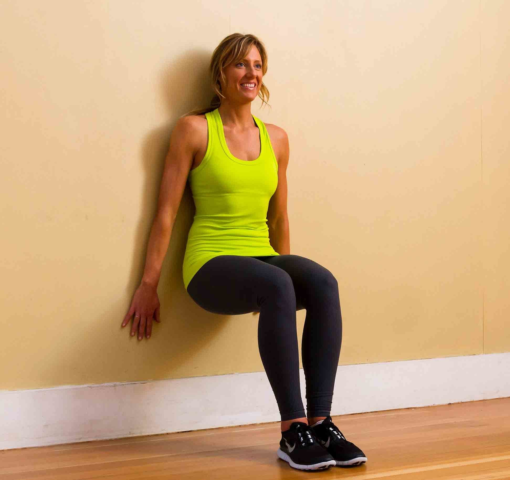 Strengthen quads and avoid runner s knee with wall squats