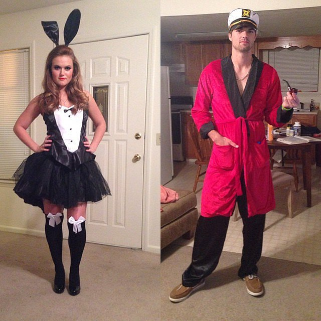 Hugh Hefner and Playboy Bunny