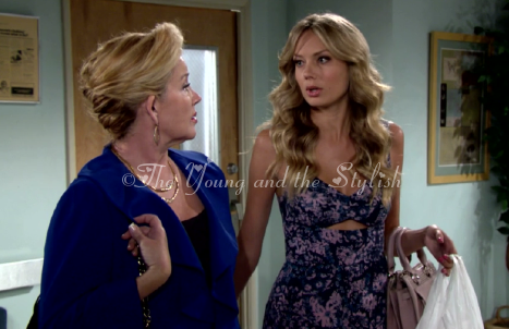 abby newman printed cutout jumpsuit the young and the restless