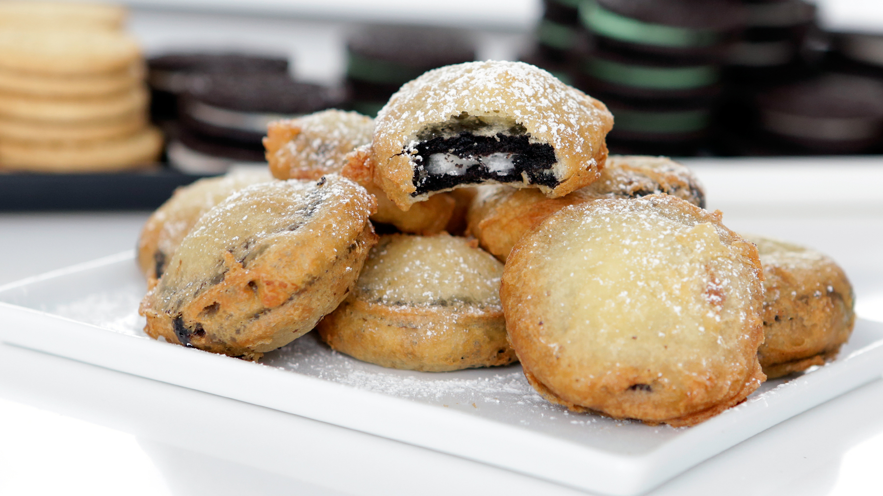 Image result for fried oreos