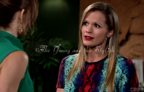 chelsea newman multicolor snakeskin top the young and the restless