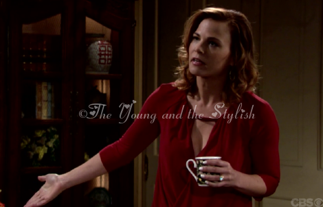phyllis newman red keyhole top the young and the restless
