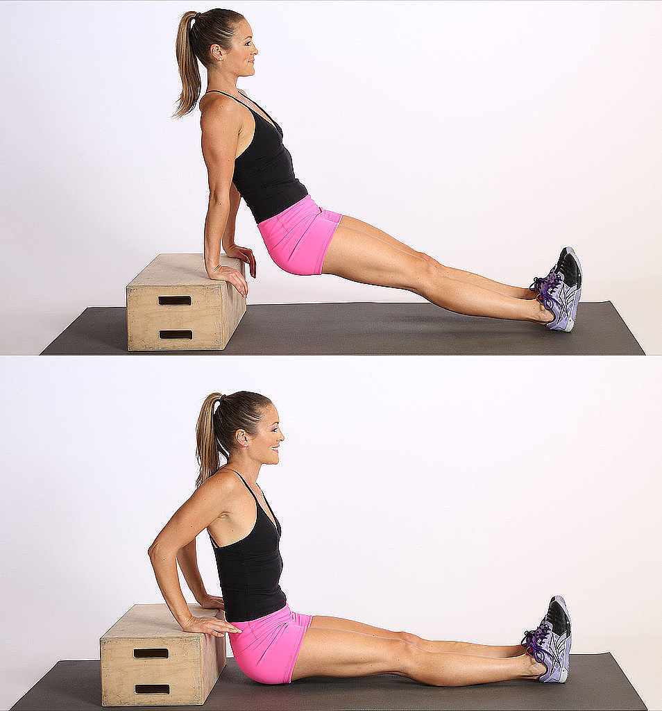 How to do triceps dips popsugar fitness for Floor workout