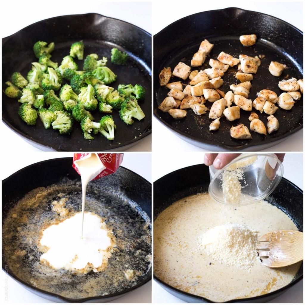 Broccoli chicken fettuccine alfredo recipe popsugar food broccoli chicken fettuccine alfredo recipe forumfinder Image collections