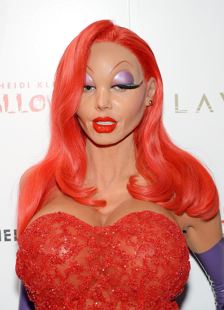 Heidi Klum Jessica Rabbit Halloween Transformation