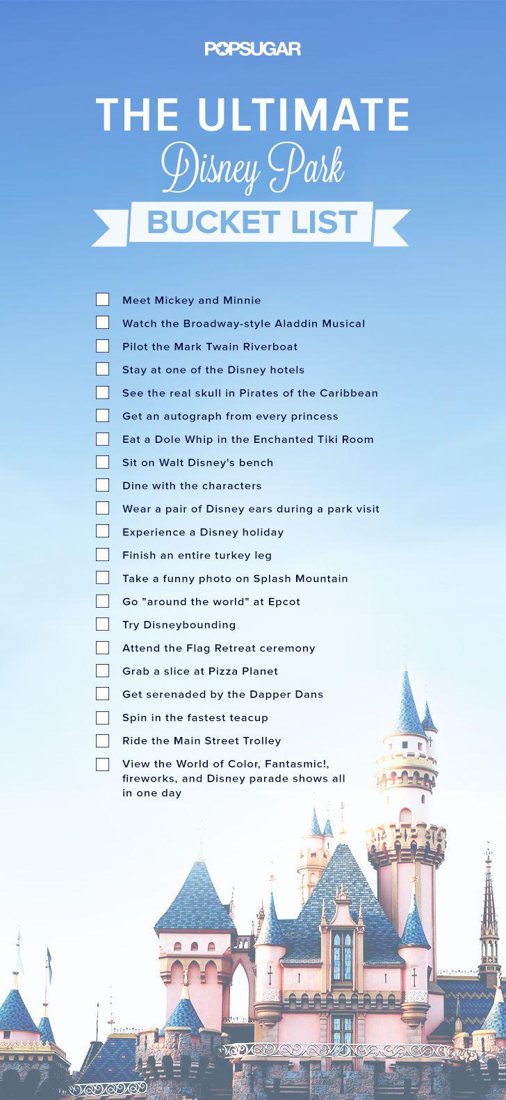 Disney Bucket List Popsugar Smart Living