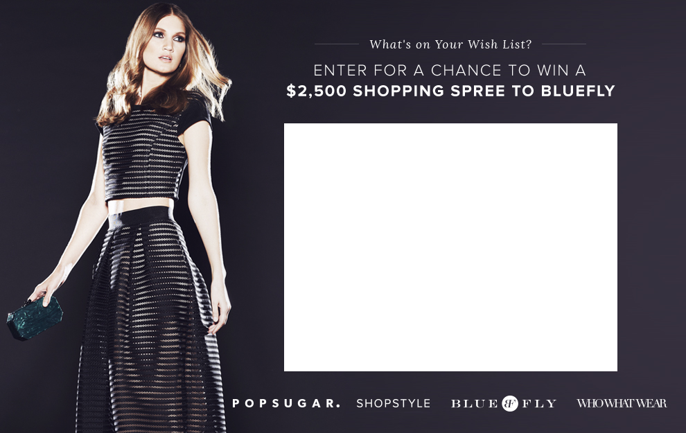 Bluefly Shopping Spree