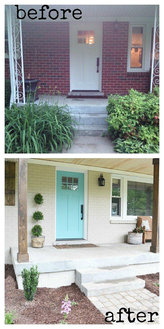 Diy home exterior makeover popsugar home - Exterior painted homes pict ...