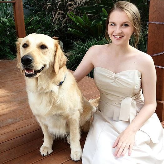 Girl And Her Dog Wear Matching Dresses For Prom | POPSUGAR Middle East Pets