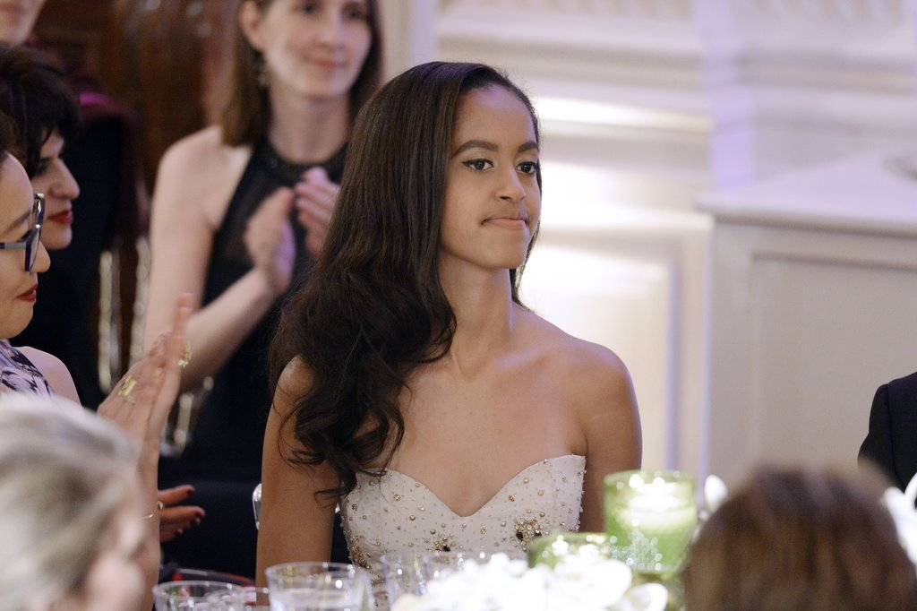 Malia and Sasha Obama Are Beyond Beautiful at Their First State Dinner