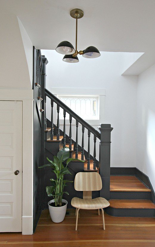 How To Modernize A Staircase With Paint Popsugar Home