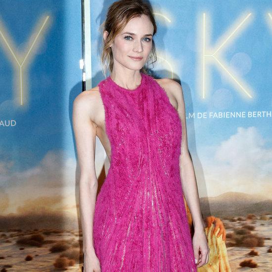 Diane Kruger in Hugo Boss Dress at Paris Sky Premiere