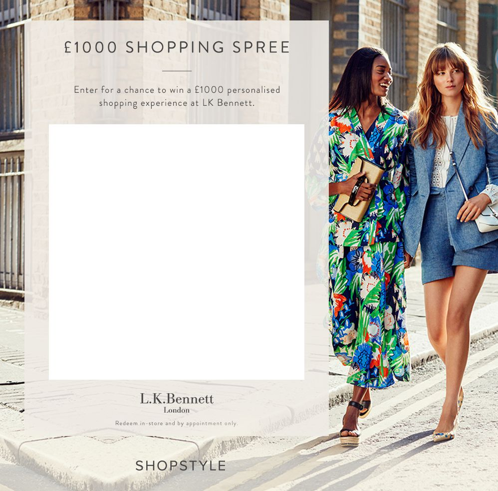 Win a £1000 shopping experience with ShopStyle UK & LKBennett!