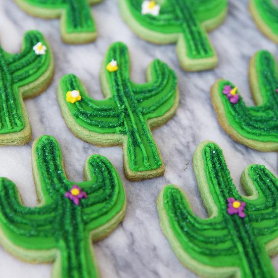 Cactus Iced Cookies