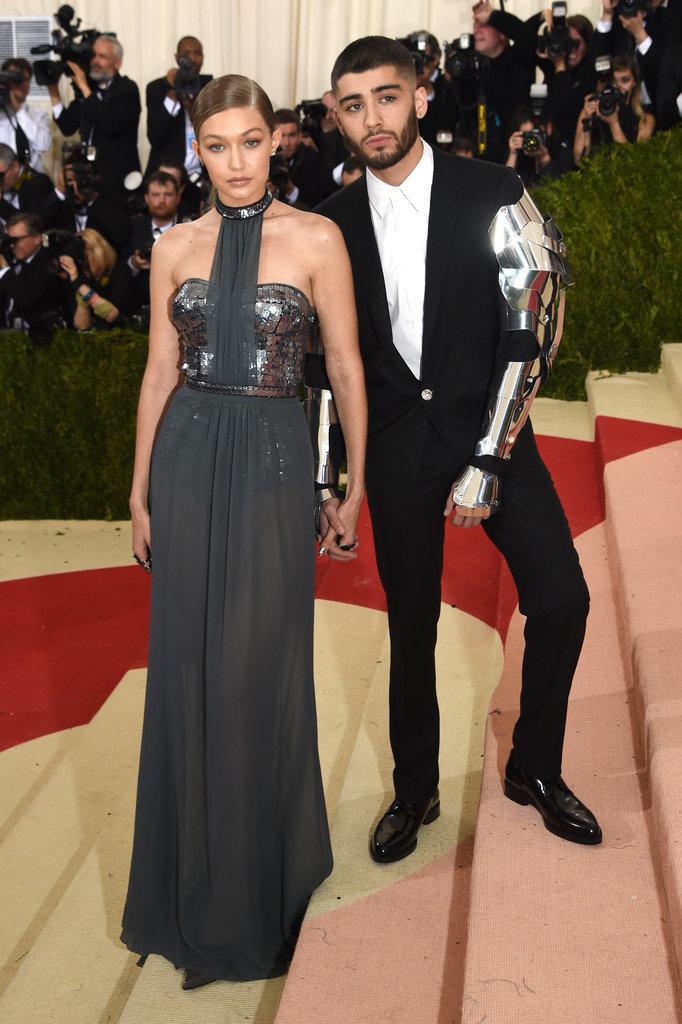 Gigi Hadid in Tommy Hilfiger and Zayn Malik at Met Gala 2016