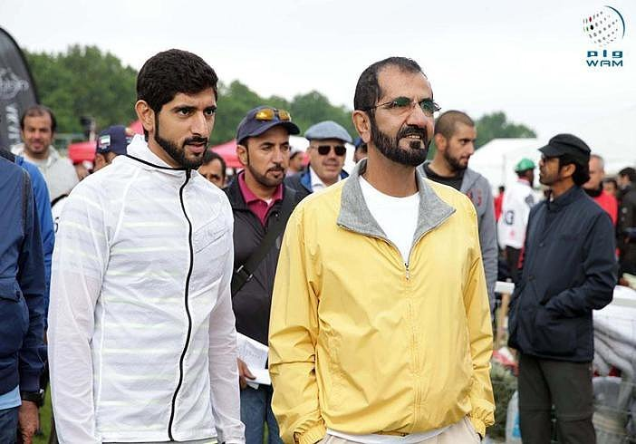 Uae S Sheikh Mohammed Dresses Casually With Queen