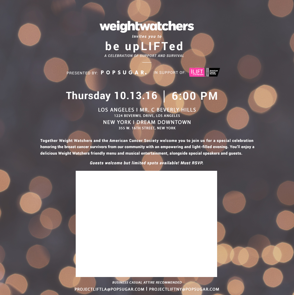Weight Watchers Be Uplifted Event