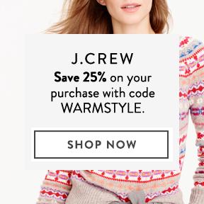Save 25% at J.Crew.