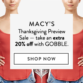 Extra 20% off at Macy's.