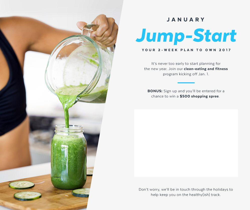 Sign-Up Early For POPSUGAR's January Jump-Start Plan