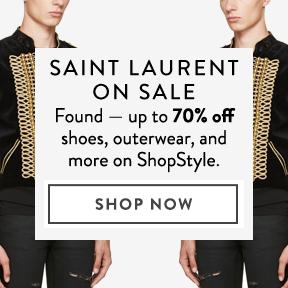Saint Laurent is up to 70% off.