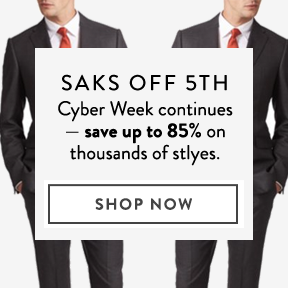 Saks OFF 5TH is up to 85% off.