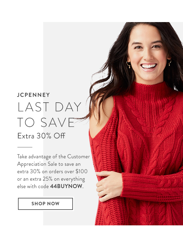 Take an extra 30% off at JCPenney.