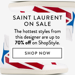 Saint Laurent is up to 70% off.