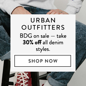 Urban Outfitters — save on BDG denim.