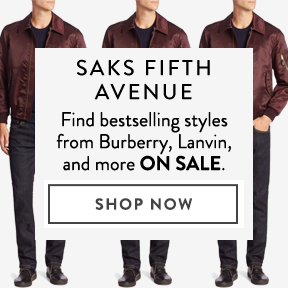 Saks Fifth Avenue — bestsellers on sale.