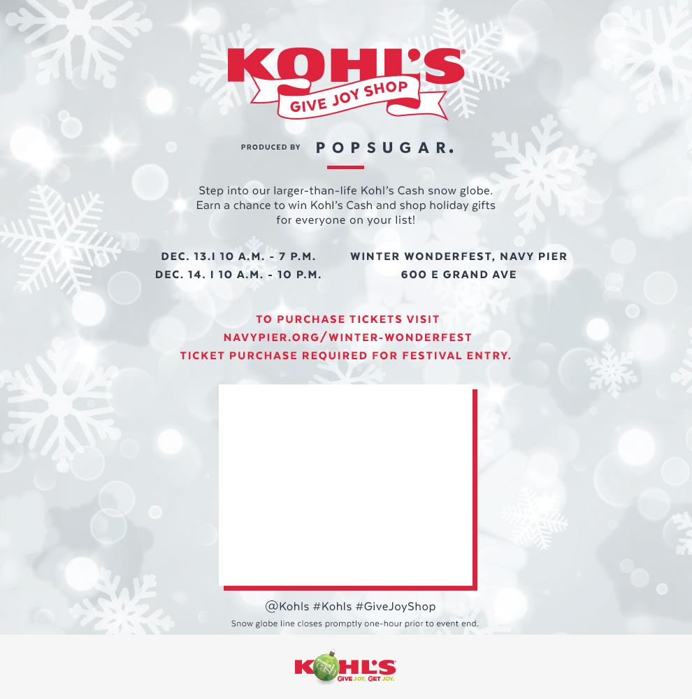 Kohl's Give Joy Shop December 13 - 14