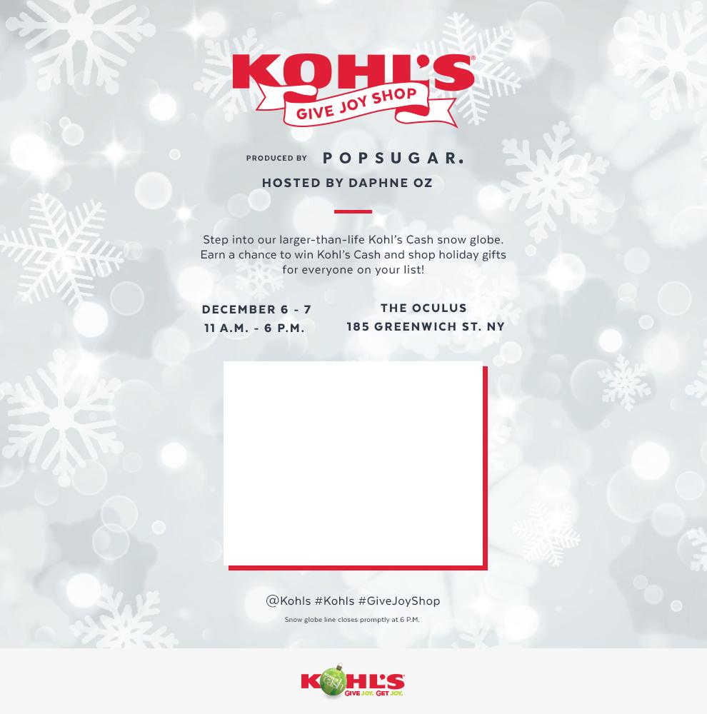 Kohl's Give Joy Holiday Shop