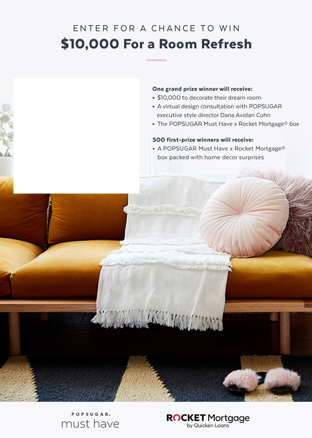 Enter For a Chance to Win $10,000 For a Room Refresh