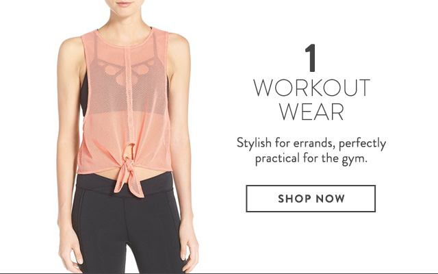 Workout wear on sale at Nordstrom.