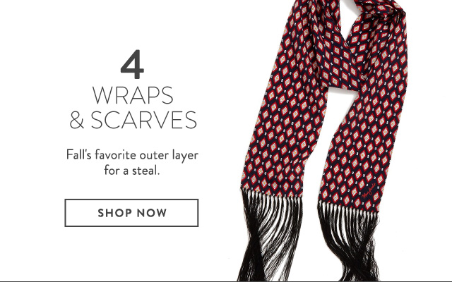 Wraps and scarves on sale at Nordstrom.