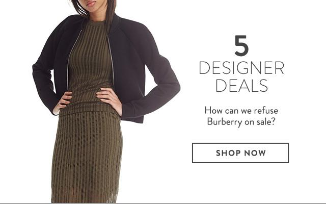Designer styles on sale at Nordstrom.