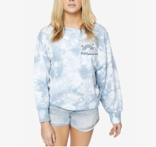 POPSUGAR Play/Ground Tie-Dye Crew Neck Sweatshirt