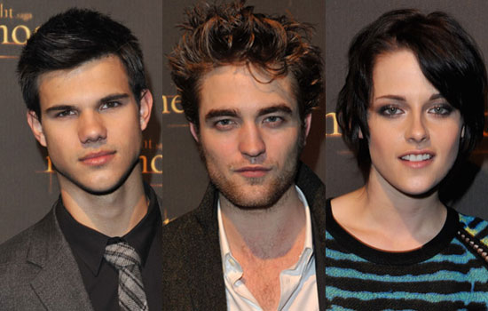 Kristen Stewart And Robert Pattinson And Taylor Lautner Kiss Interviews With New Mo...