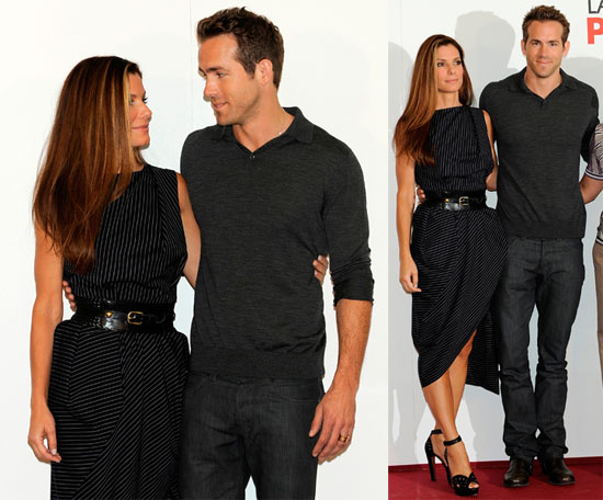 Photos Of Ryan Reynolds And Sandra Bullock At Madrid Photo Call For