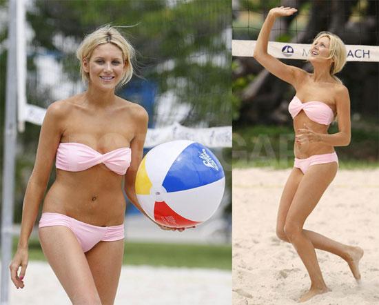 Beach volleyball bikini slips