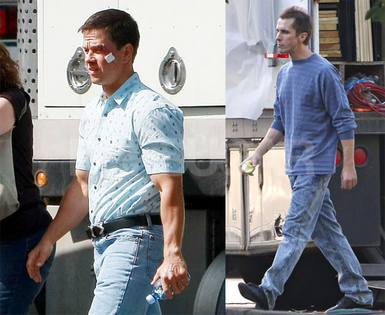 Photos Of Skinny Christian Bale And Mark Wahlberg On The Set Of The