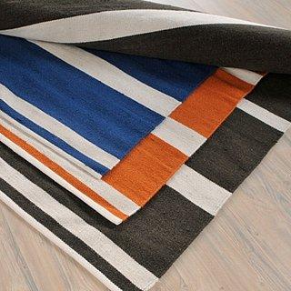 Colonial Mills Stripe It Black/White Indoor/Outdoor Area Rug