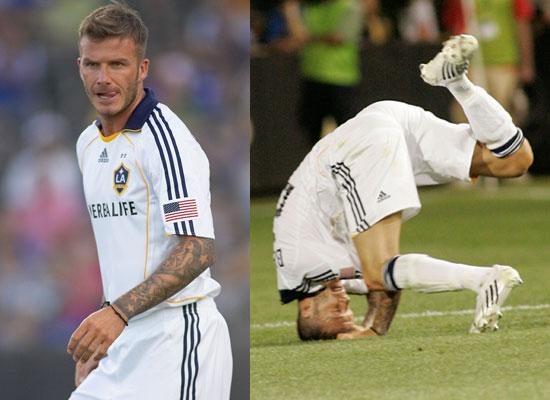 Photos Of David Beckham Playing For LA Galaxy Against Kansas City - David beckham hairstyle la galaxy