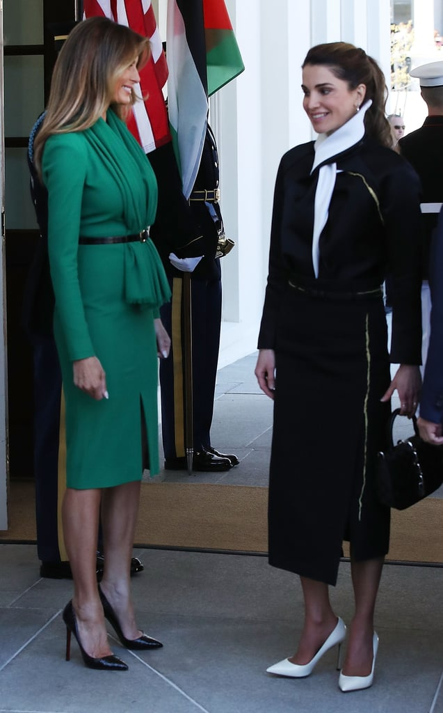 Melania Trump's Outfit Has More Than a Few Similarities to Queen Rania's