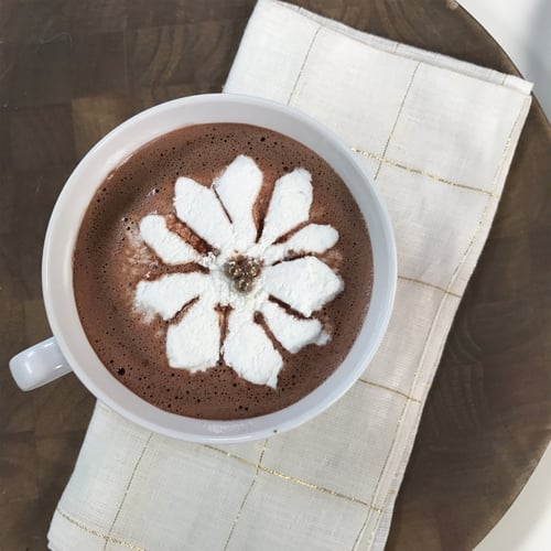 how to make marshmallow flowers for hot chocolate