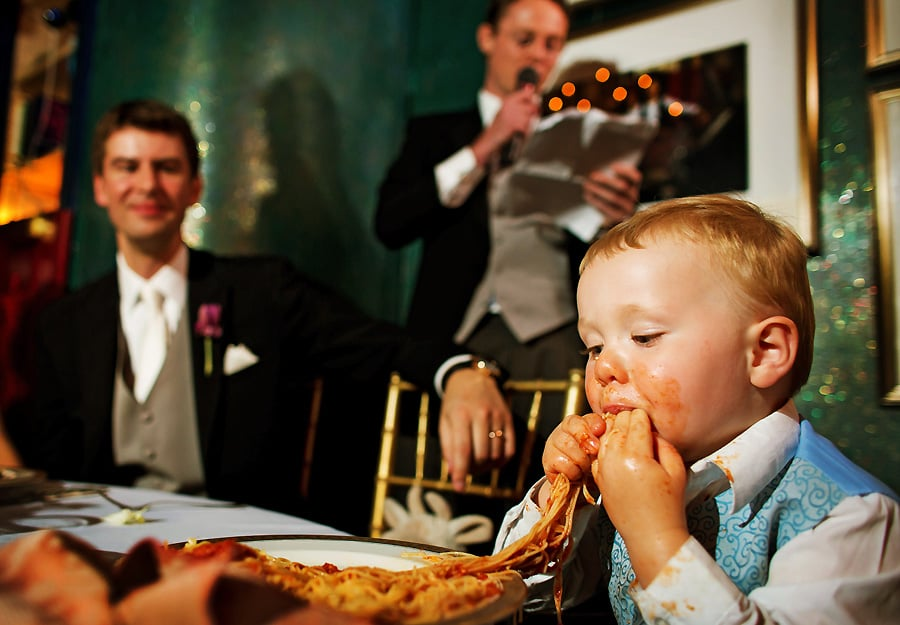 He had given up carbs in preparation for the wedding. Sweet, sweet reunion.
